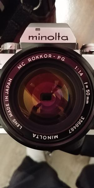 Vintage Minolta 50mm F1.4 prime lens for Sale in Gig Harbor, WA