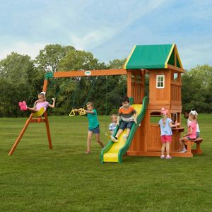 Backyard Wooden Swing Set For Children Outdoor Fun for Sale in Los Angeles, CA