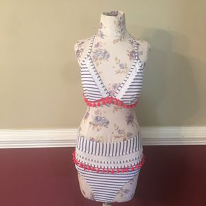 Cocoship 2 Piece Bathing Suit with Pom Pom Fringe for Sale in Mount Ulla, NC