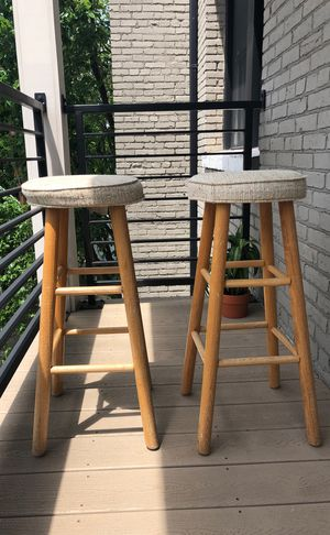 Two Wooden Bar Stools for Sale in Washington, DC