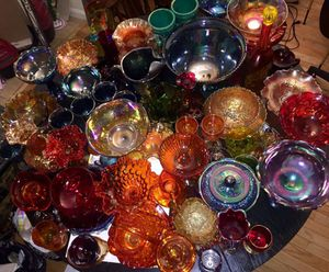 Collection of Depression and Carnival Glass for Sale in Crofton, MD