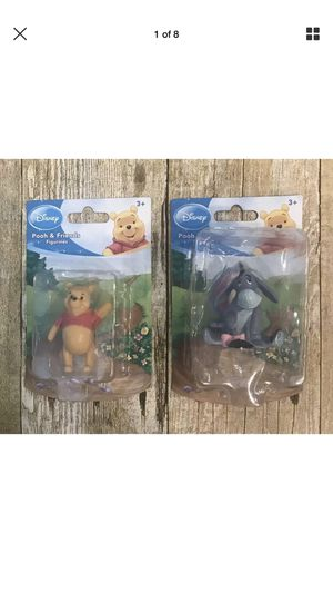 Disney Pooh & Friends Figurines Pooh and Eeyore New for Sale in Land O' Lakes, FL