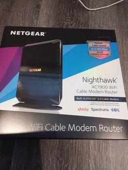 NETGEAR Nighthawk AC1900 WiFi Cable Modem Router for Sale in Laguna Hills,  CA