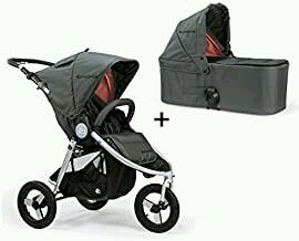 Bumbleride Indie Stroller, with bassinet in grey and coral all attachments included. for Sale in Concord, CA