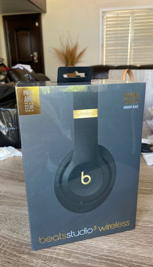 Beats Studio 3 Wireless Midnight Black for Sale in Fountain Valley, CA