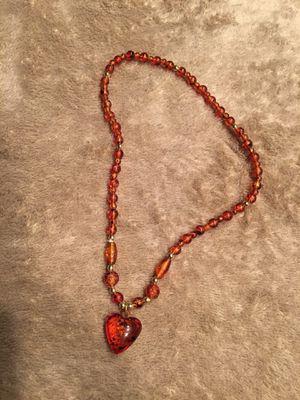 Vintage Amber Color Heart Necklace for Sale in Boca Raton, FL