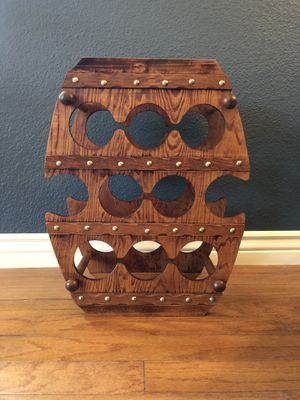 Mid Century Modern Barrel Wine Rack for Sale in Tempe, AZ
