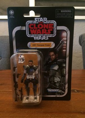Star Wars The Vintage Collection 2020 The Clone Wars ARC Trooper Fives action figure new for Sale in Puyallup, WA