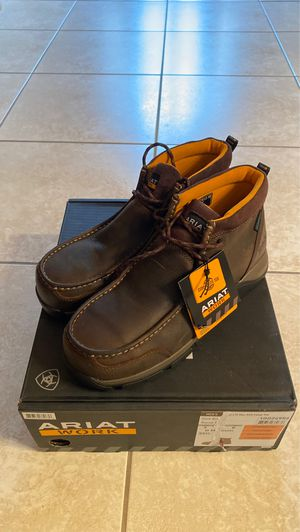 Ariat Men's Edge LTE Dark Brown Waterproof Moc Round Composite Toe Lace Up Work Boot, Size 9 for Sale in Miami, FL