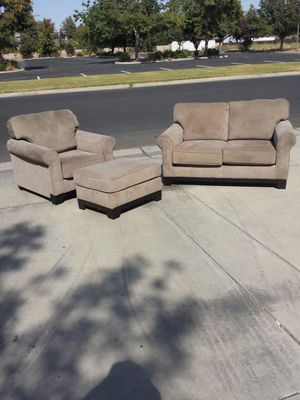 3 Piece Couch/Love Seat, Chair and Foot Rest Ottoman for Sale in Clovis, CA