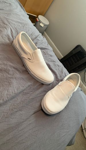 Sz 10 brand new vans all white slip on for Sale in Foxborough, MA