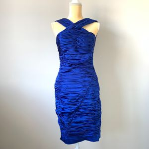 Calvin Klein Blue Ruched Cocktail Dress Size 6 for Sale in Smyrna, TN
