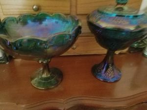 Beautiful large antique carnival glass for Sale in Willow Spring, NC