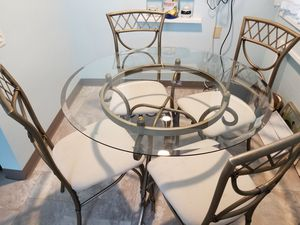 Glass table and 4 chairs for kitchen for Sale in Taylor, PA