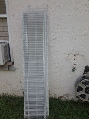 Quantity of 5 for $35 metal wire shelving racks 12 in wide for Sale in Pompano Beach, FL