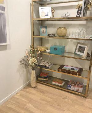 Gold glass book shelve for Sale in Boston, MA