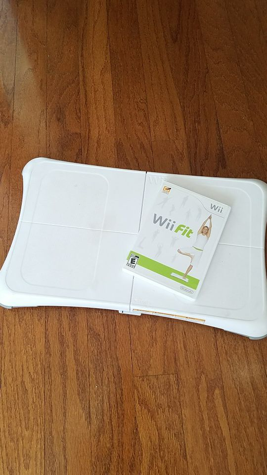 Nintendo wii fit video game and fit board