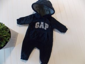 Baby Gap Infant Boys 0-3M Blue Quilted Snowsuit Outerwear Pram for Sale in Tacoma, WA