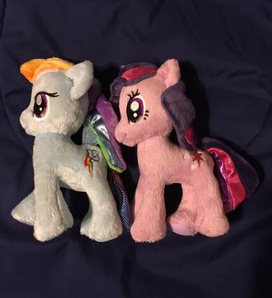 MLP - Twilight sparkle and Rainbow Dash Plushies for Sale in Centralia, WA