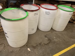 55 gallon plastic drums for Sale in West Palm Beach, FL