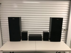 5 Piece Onkyo Fusion Surround Sound Speaker Set - Excellent Condition for Sale in North Wales, PA