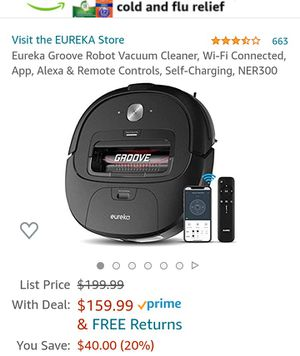 Eureka Groove Robot Vacuum Cleaner for Sale in Brooklyn, NY