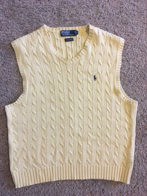 Ralph Lauren Polo Sweater Vest (Yellow) for Sale in Marysville, CA
