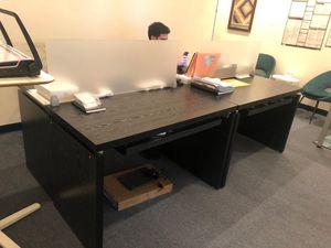 Black Desk with Built-In Keyboard Shelf! for Sale in Hoboken, NJ