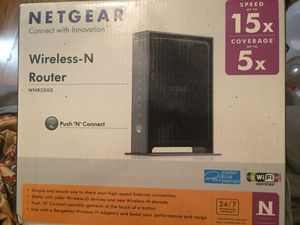 BRAND NEW SEALED NETGEAR WIRELESS -N ROUTER- Push N Connect for Sale in Houston, TX