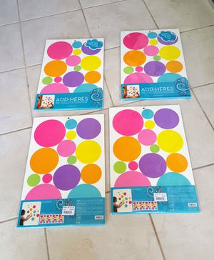 Dots decoration removable, re position $12 per package has 4 pages per pack for Sale in Clearwater, FL