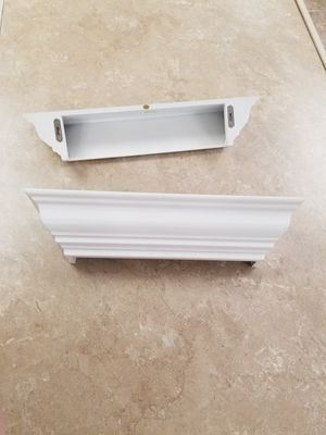 2 white wood wall shelves for Sale in Clearwater, FL