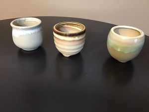 Set of three small succulent pots for Sale in Simpsonville, SC