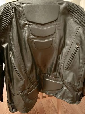Motorcycle Black Leather Jacket for Sale in New Britain, CT