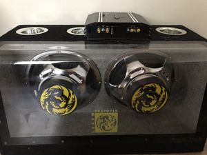 """2 12"""" s audiotek woofers with amp $60 !!!!!! Work great for Sale in San Jose, CA"""