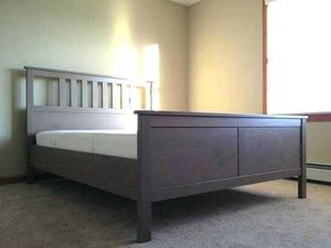 Queen Hemnes Ikea Frame Grey for Sale in Georgetown Township, MI