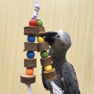 1 Piece Natural Wooden Birds Parrot Colorful Toys Chew Bite Hanging Cage Balls Ropes Garden Ornament Pet Supplies for Sale in Phoenix, AZ