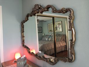 Large wood frame mirror for Sale in Odessa, FL