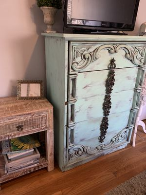 Solid wood shabby chic dresser for Sale in North Hollywood, CA