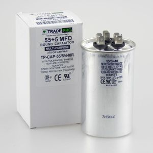 TRADEPRO® - TP-CAP-55/5/440R 55+5 MFD 440V Round Run Capacitor for Sale in Phoenix, AZ