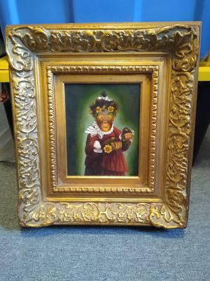 Monkey canvas oil painting for Sale in Waterbury, CT