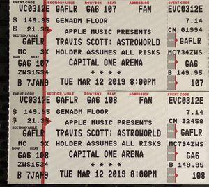 Travis scott astroworld tickets for Sale in Arlington, VA