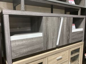 Tv Stand, Distressed Grey & White, 161822 for Sale in Norwalk, CA