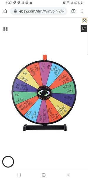 """WinSpin 24"""" Tabletop Spinning Prize Wheel 14 Slots w for Sale in Bellflower, CA"""