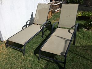 Sun tanning deck chairs for Sale in Midway City, CA