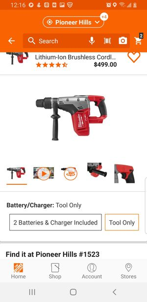 MILWAUKEE FUEL M18 SDS-PLUS ROTARY HAMMER////TOOL ONLY///2715-20 for Sale in Palmer Lake, CO