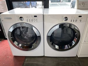FRIGIDAIRE LARGE CAPACITY FRONT LOADING WASHER DRYER STACKABLE for Sale in Vancouver, WA