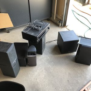 $188 Bose speakers set Yamaha receiver Surround sound system entertainment music TV stereo reciever for Sale in Aurora, CO