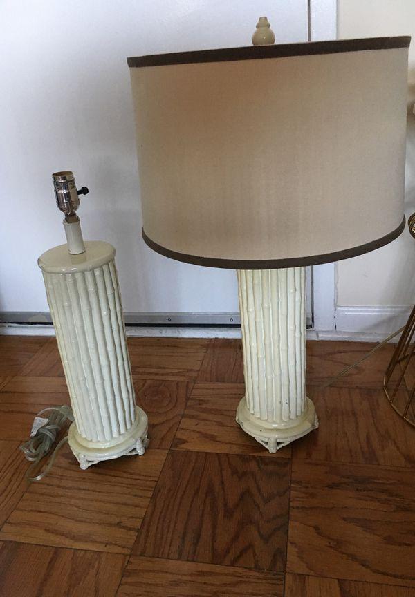 Bamboo Lamps - 2 bases, 1 shade