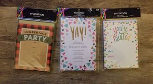 NEW in Package Bundle of (3) 10 count each pack of invitations. for Sale in Marysville, WA