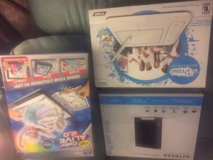 All three (3) pieces are included 1. NETGEAR N300 Wireless Router (Work and Play, 2. U Draw Game Tablet, 3. Crayola Alive 2.02. for Sale in Lutz, FL